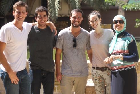 my friends (Matt, Nik, Greg), me and Hiba!