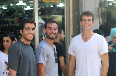 the boys exploring the souq (right before Matt and I ate two kilos of peaches)