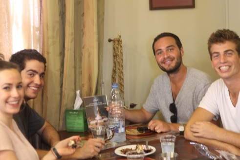 eating hallaweAt (sweets) after a long day at the famous Abdul Rahman Hallab & Sons 1881
