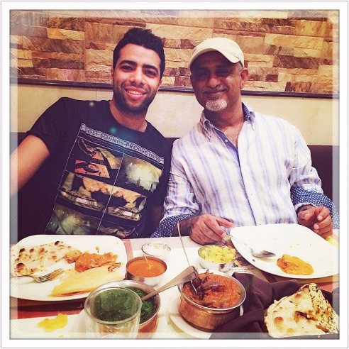 Adam & Fahad at a vegetarian South Indian Restaurant in Ruwi
